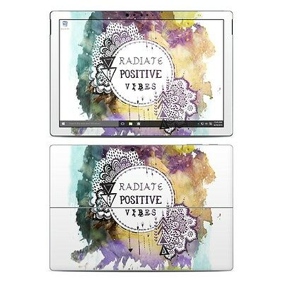NEW Vinyl Skin for Surface Pro 3, 4, Book Positive Vibes Sticker Decal Cover