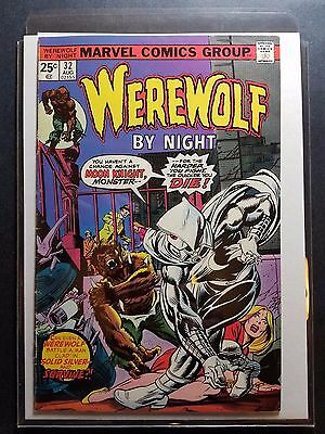 Werewolf By Night 32 1St Moon Knight Beautiful Solid Mid Grade