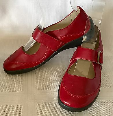 """HOMY PED """"VENUS"""" Red Leather Upper & Lining - Size 6.5 - As New Condition"""