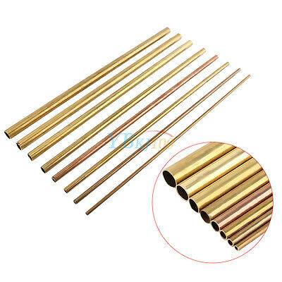 500mm Round Brass Tube Copper Pipe OD 6/8/10/12/14/16/18/20mm Modelmaking HighQ