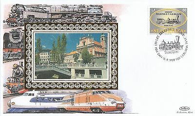 (93319) CLEARANCE Slovenia Benham Cover Trains 16 Sept 1999