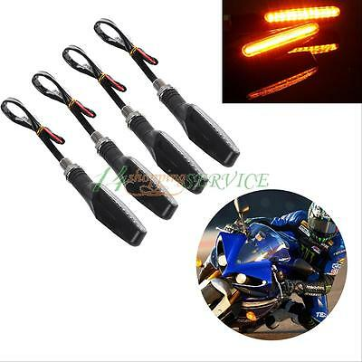 4x12 LED Motorcycle Bike Turn Signal Lights Indicator Amber Light Orange Blinker