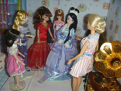 1 Princess Fashion Doll w/ Fancy Violet Clothe and Hair play Licca Barbie Momoko