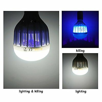 LED Bug Zapper Light Bulb 10W Daylight 6000K E26 Flying Insects Moths Killer