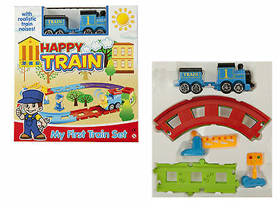 Happy Train Set With Music And Sounds - My First Train Set-  Blue No 1 Train-Toy