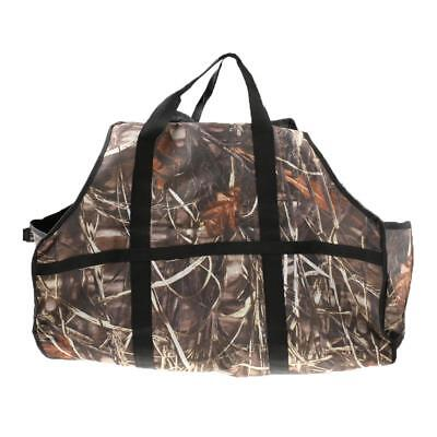 Camouflage Log Tote Bag Fire Wood Carrier Caddy Holder Storage Pouch Sack