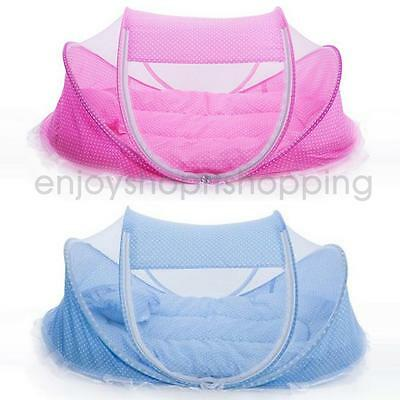 2pcs/set Baby Bed Infant Crib Cradle Play Shades Travel Mosquito Tent Foldable