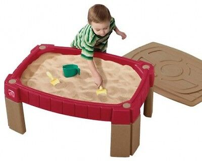 Outdoor Garden Sand Table Sandpit with Cover Lid Kids Sand Pit & Water Play Kit