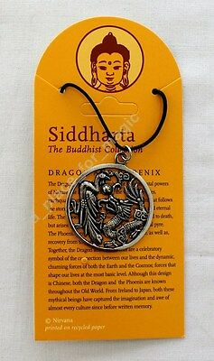 NEW Dragon and Phoenix Pewter Pendant Necklace