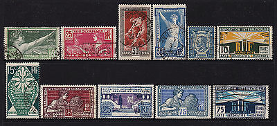 France 1924 Olympics, Ronsard & Exhibition of Modern Decorative Arts Stamps