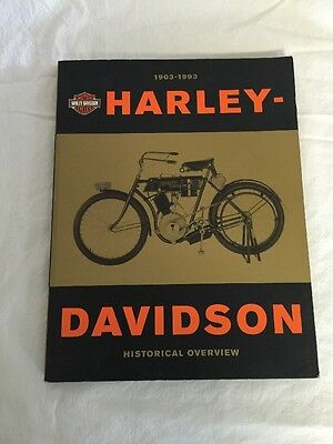HARLEY DAVIDSON HISTORICAL OVERVIEW BOOK 1903-1993  Original Motorcycle History