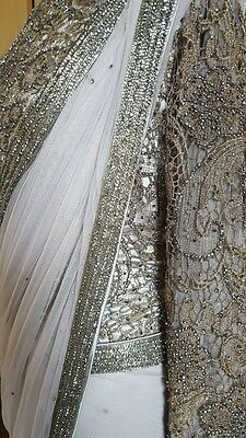Designer Indian Bollywood Wedding Mendhi Bridal Saree Lengha Dress 3 Available