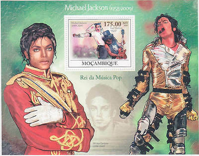Michael Jackson Timbre Feuillet MOZAMBIQUE Sheet Stamp Set 2009