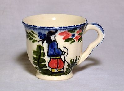 Vintage Blue Ridge Southern Pottery French Peasant Demitasse Cup EUC
