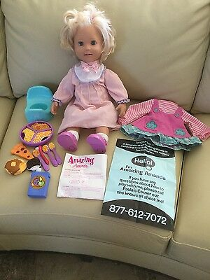 PLAYMATES AMAZING INTERACTIVE  AMANDA DOLL with complete accessories