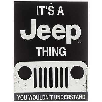 It's A JEEP Thing Tin Metal Sign Retro Vintage 3D Oil & Gas Station Garage