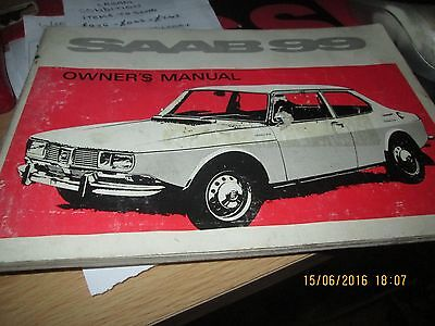 SAAB 99 Car Owner's Manual Handbook Aug 1970 # 788696