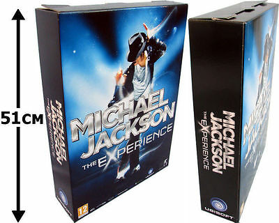 Michael Jackson THE EXPERIENCE Video Game GIANT Display Cardboard PLV PROMO 2010