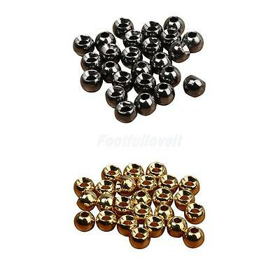 Pack 25 Tungsten Slotted Fly Tying Beads Nymph Head Ball Beads Gold/Black 4 Size