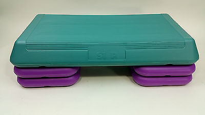The Step Aerobics Total Workout Stepper Gym With 4 Risers