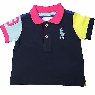Ralph Lauren SS Big PP Coming Polo Shirt Bunt Kinder Kids Original 320608652001