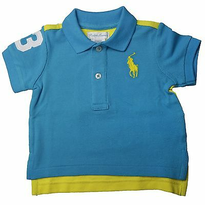 Ralph Lauren SS Novelty Coming & Going Polo Hemd Blau Gelb Kinder 320608642001