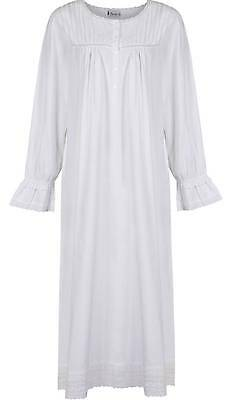 "100% Cotton Nightdress Vintage Victorian Style Nightgown ""Bettie"" 7 sizes"