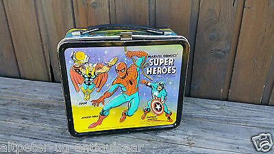 1976 Marvel Comics Super Heroes Lunchbox, Brotbox, Spiderman, Thor, Hulk Nr. 087