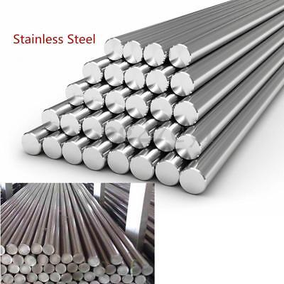 Stainless Steel 304 Round Solid Metal Rod Bar Dia 3-14mm Length 125mm-500mm