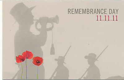 Australian Stamps: 2011 Remembrance Day - ( Stamp and MS) Post Office Pack