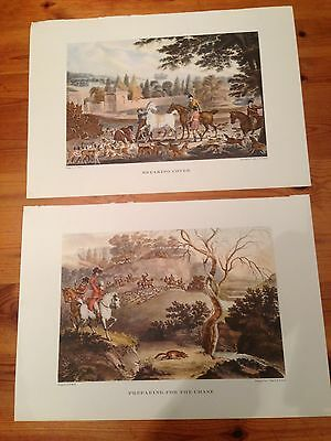 British Sporting Prints 1955 reproduction of two by Robert Pollard - hunting