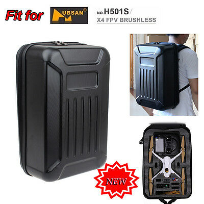 Hubsan H501S FPV RC Quadcopter Drone Hard Shell Backpack Case Bag Travelling Box