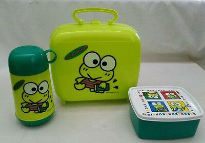 vintage Keroppi 1992 SANRIO lunch box and thermos Tupperware kids BACK TO SCHOOL