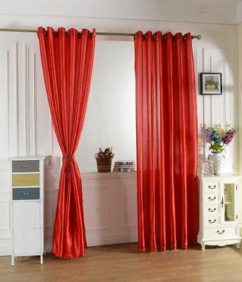 100x200cm Modern Jacquard Window Room Panel Shade Curtain Drape Blind Red