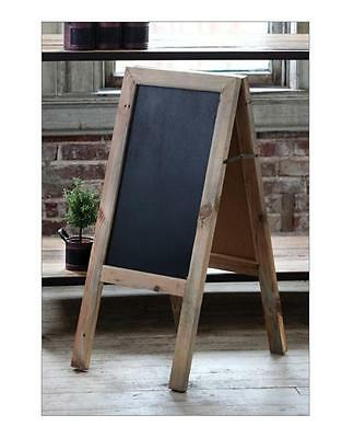 TWO-SIDED SIDEWALK CHALKBOARD~A Frame Sandwich Board~Rustic WEDDING DECOR