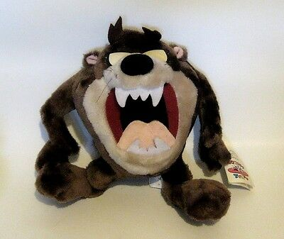 "Retired VIntage Taz Tasmanian Devil Plush 1994 Applause NWT 14"" x 11"" x 6.5"""