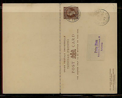 Trinidad  postal reply card to Germany  1893          SSS0512