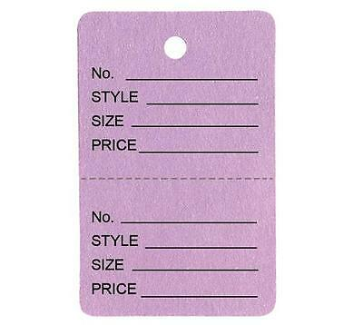 1000 Small Perforated Merchandise Coupon Price Tags Lavender