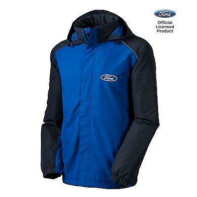 Men's Ford All Season Hoodie Jacket Official Licensed Royal Blue Gray