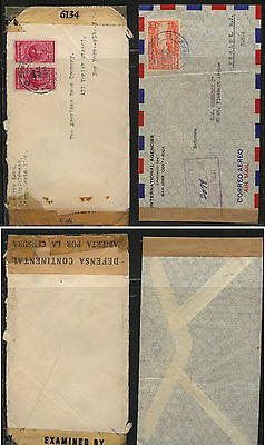 Costa  Rica  2  censor covers,  one  double          RL0804