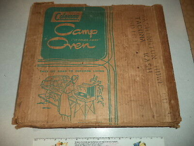 "Vintage Coleman Camp Oven-Diamond Logo-Original Box-""It Folds Away"",mdl 5010-700"