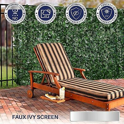 39 inch Artificial Faux Ivy Leaf Privacy Fence Screen Décor Panels Outdoor Hedge