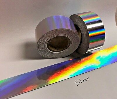 Rainbow Oil Slick Holographic Tape, Pick your Color and Size, Shimmer OilSlick