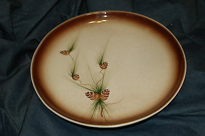 Vintage ROMCO Hand Painted Round 11 1/2'' Platter Classic Pine Cone Pattern