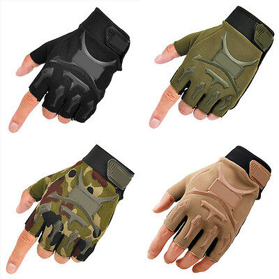 Men's Tactical Work Gloves Athletic Half Finger Military Army Driving Fingerless