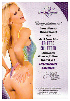 2016 Benchwarmer Eclectic Collection Jewels BARBARA MOORE 1/1 Purple Gem Card