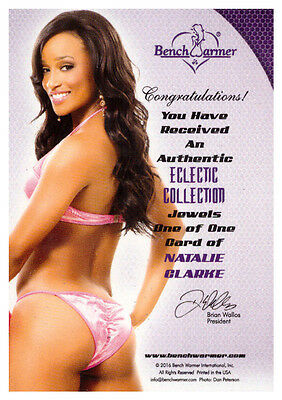 2016 Benchwarmer Eclectic Collection Jewels NATALIE CLARKE 1/1 Purple Gem Card