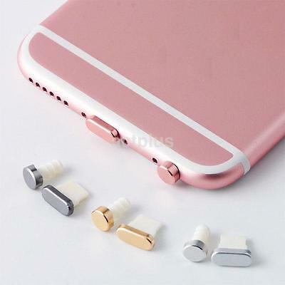Reusable 4in1 Metal Anti Dust Plug Cap Keeper for Apple iPhone 6 6S Plus 5SE 5S