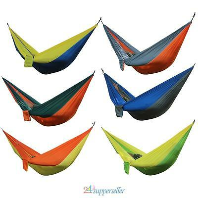 Portable Double Person Travel Camping Nylon Fabric Parachute Sleep Swing Hammock