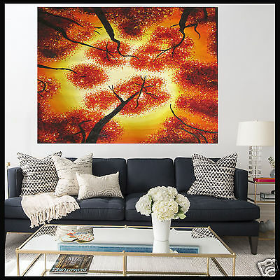 Tree Forest Sunset Landscape Painting Australia Art Canvas Large